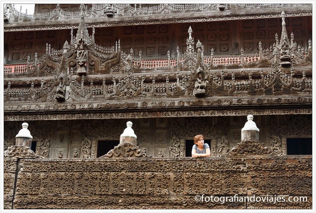Templo de Shwenandaw en Mandalay, Myanmar