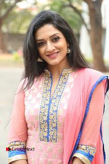 Actress Vimala Raman Stills in Beautiful Pink Salwar Kameez at (ONV) Om Namo Venkatesaya Press Meet  0064.JPG