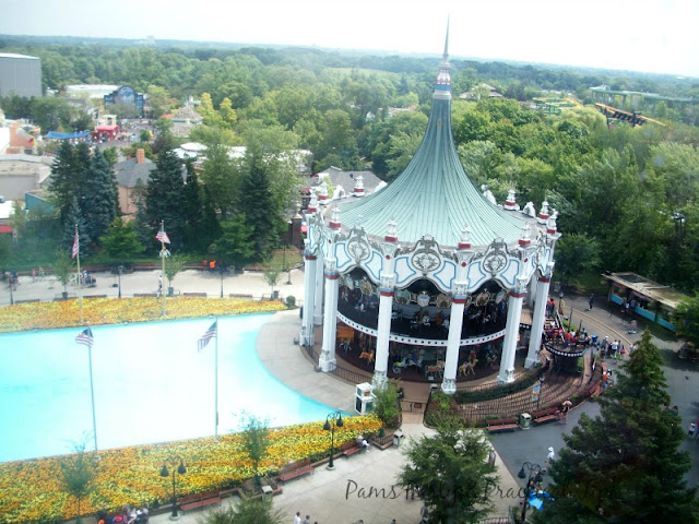 Carousel Ride at Six Flags, double decker carousel