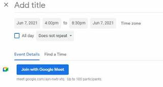 atur jadwal meeting di google meet