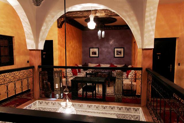 Interior del riad Ksar Aylan