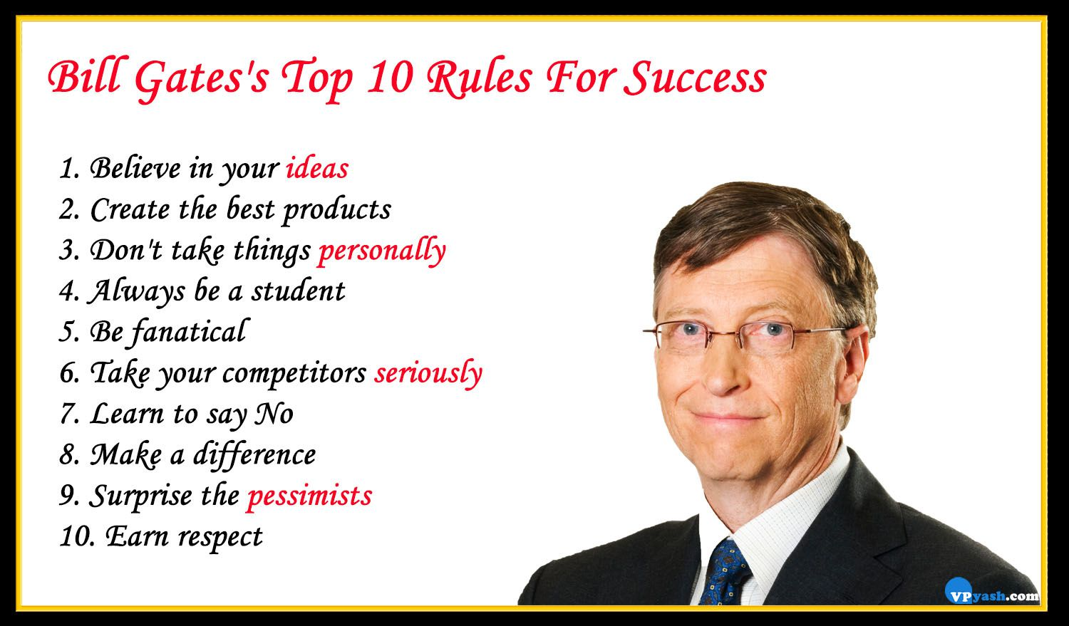bill gates s top 10 rules for success inspiring writer