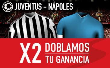 sportium bono 25 euros Juventus vs Nápoles 13 febrero