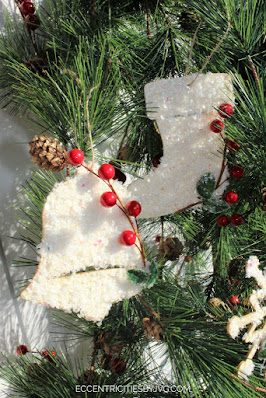 Faux Snow Christmas Ornaments, a featured post at Funtastic Friday @ Scratch Made Food! & DIY Homemade Household!