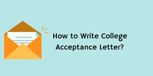 How to Write a Acceptance Letter?