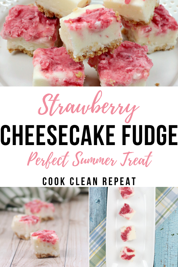 Strawberry Cheesecake Fudge Recipe