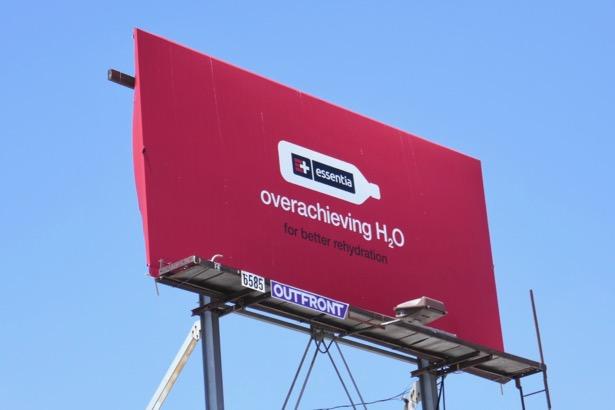 Essentia Water Overachieving H20 billboard