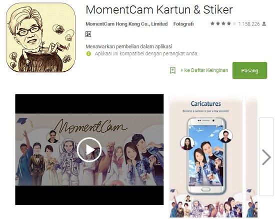 aplikasi edit foto jadi kartun di Android
