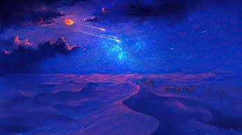Desert, Beautiful, Night, Stars, Comet, Scenery, 4K, #6.2646