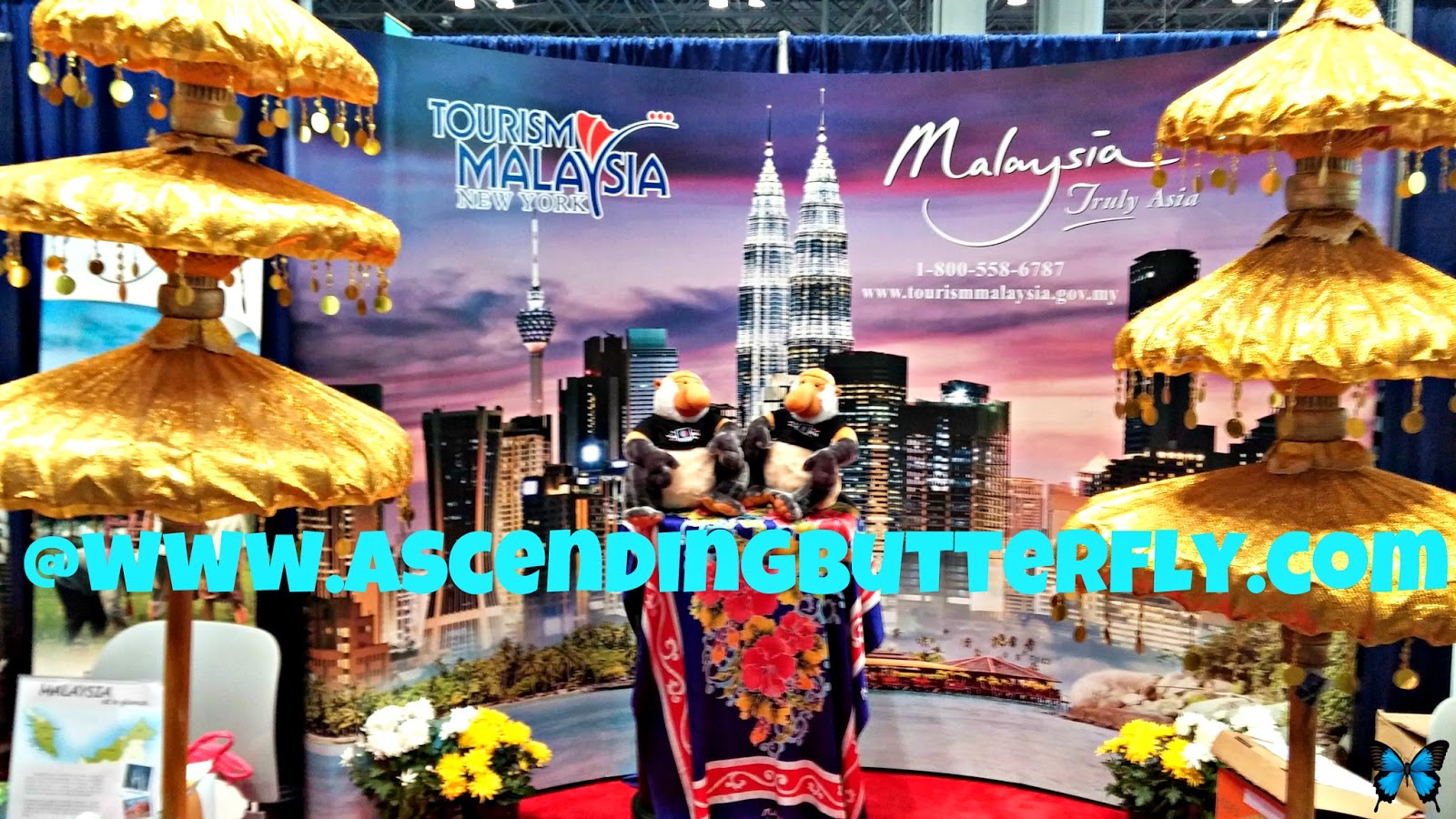 Tourism Malaysia display table at New York Times Travel Show