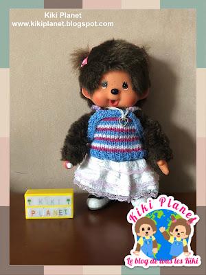 kiki monchhichi tricot knitting top clothes vêtement poupée doll handmade fait main