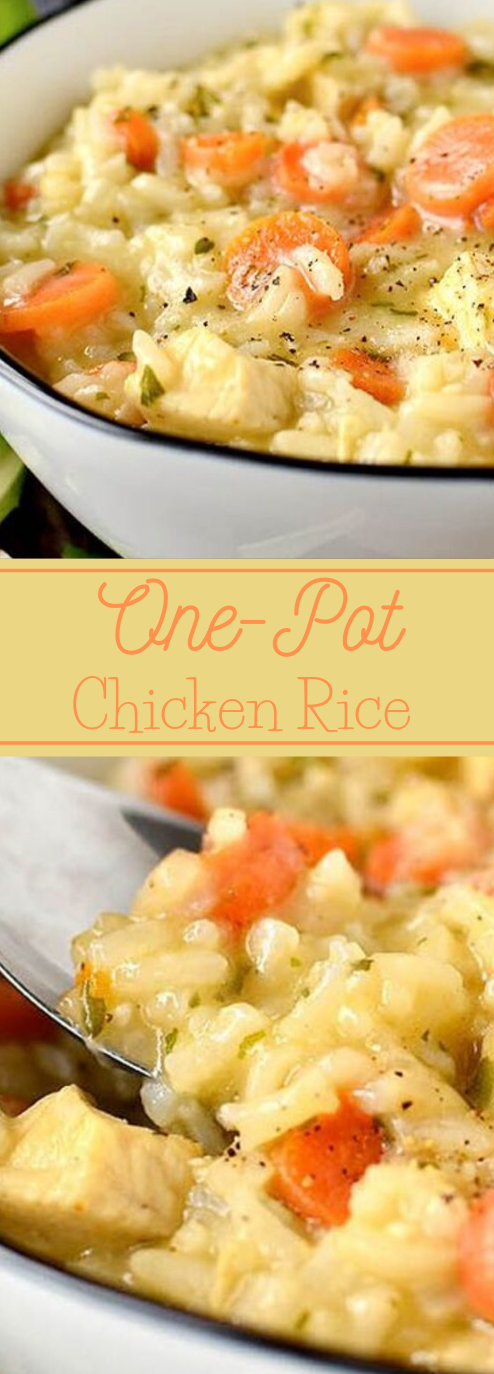 One-Pot Chicken and Rice #chicken #healthydinner #lunch #whole30 #lowcarb