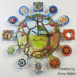 Four Seasons Button Clock by Anne Waller