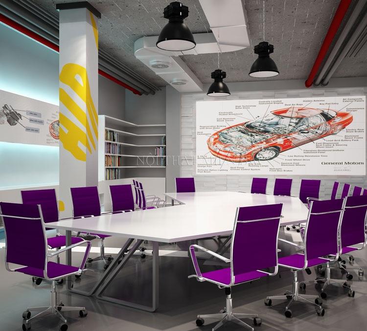 Tư vấn thiết kế phòng họp với những gam màu nổi bật