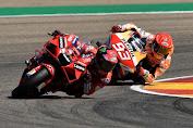 Duel sengit dengan MM, Francesco Bagnaia jajal kemenangan pertama MotoGP di Aragon