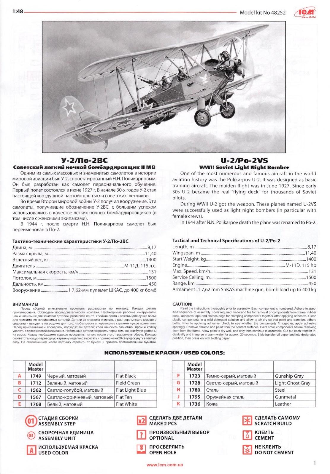 ICM 48252 U-2//Po-2VS in 1:48