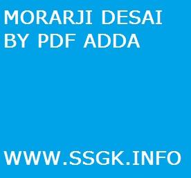 MORARJI DESAI BY PDF ADDA