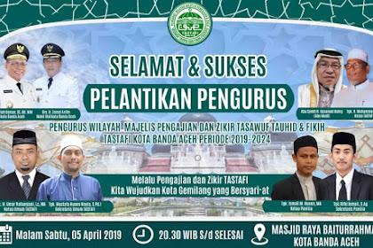 """""""Singa Banda Aceh"""" Teungku Umar Rafsanjani Ketua Pengurus TASTAFI Kota Banda Aceh"""