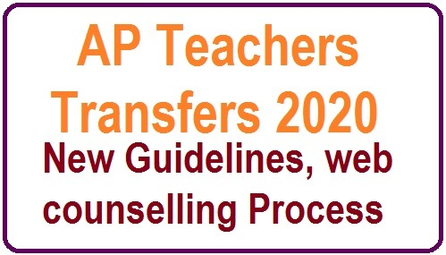 AP Teachers Transfers Guidelines 2020 - Transfers in Snakranthi Holidays