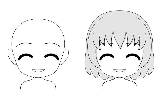 Konten ekspresi wajah anime chibi