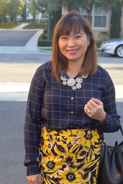 Fashion Over 40, Pattern Mixing