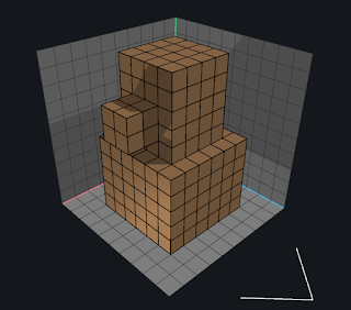 Adding single voxels using the Voxel tool in VoxEdit