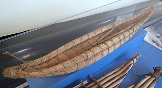 model reed boat, Lake Titicaca