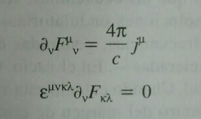 Ecuaciones de Maxwell en forma tensorial