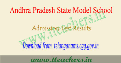 AP Model school results 2018 manabadi, apms selection list