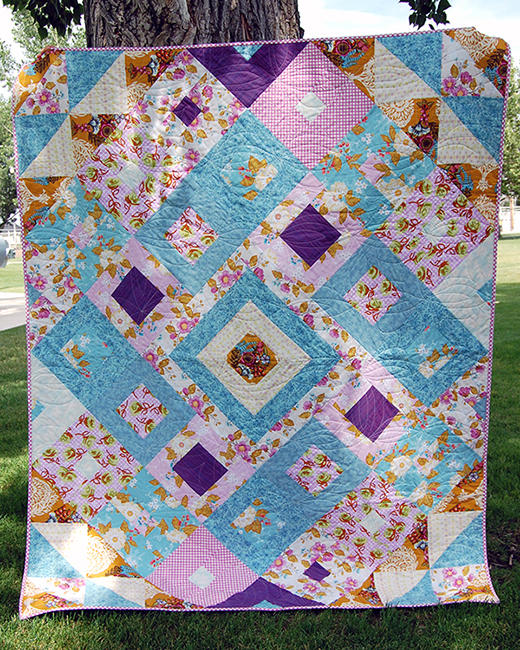 Tumbling Jewels Quilt designed by Diane & Audrey of The Cloth Parcel