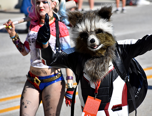 Rocket Raccoon  |  Dragon Con Parade 2019  |  Photo: Travis Swann Taylor