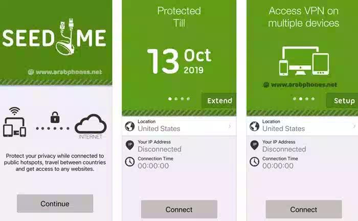 تطبيق VPN Proxy by Seed4.Me