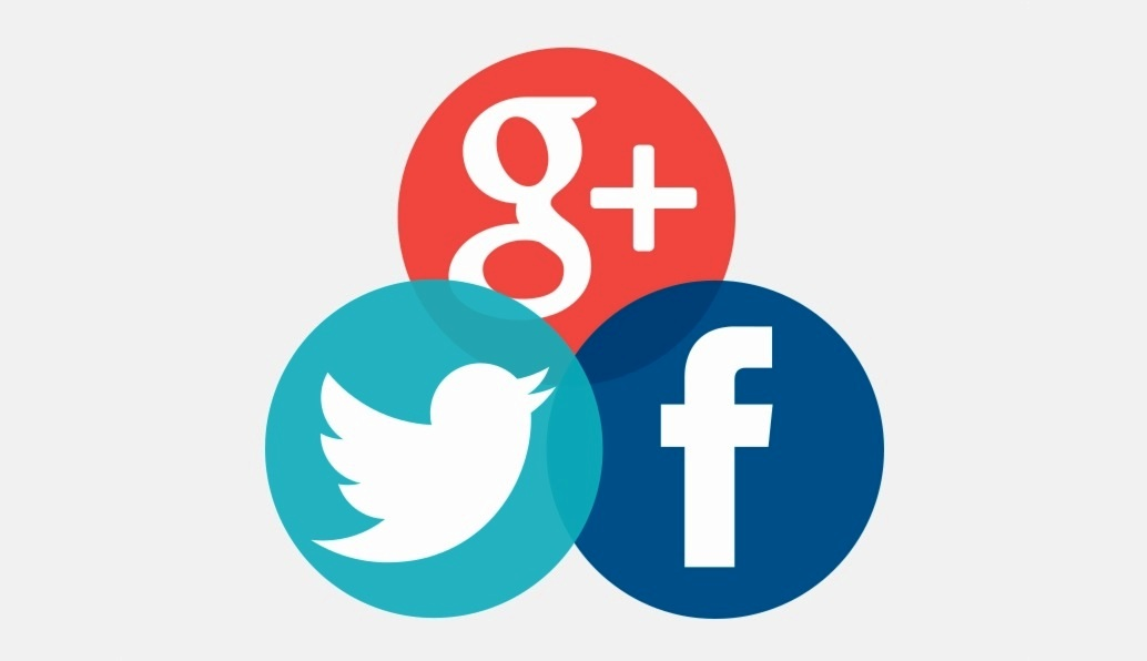 Google Twitter and Facebook