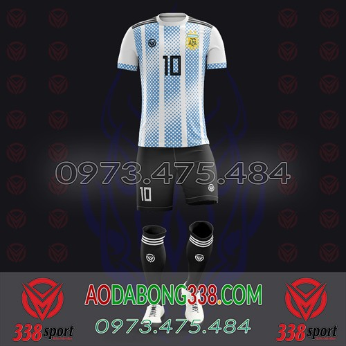 May Áo Đá Bóng Theo Yêu Cầu Mã Argentina-03