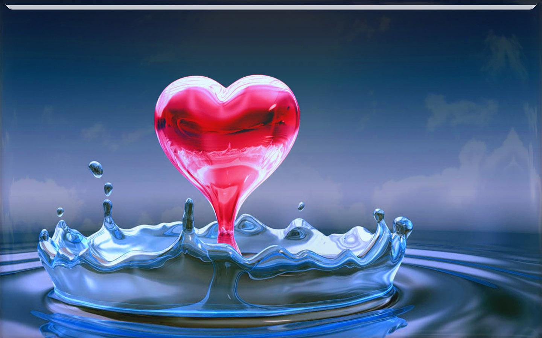 3d Love Red Heart Wallpaper 3d Wallpapers