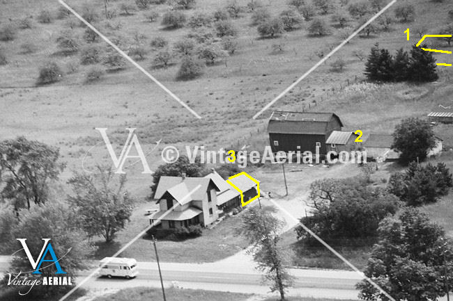 old house aerial view