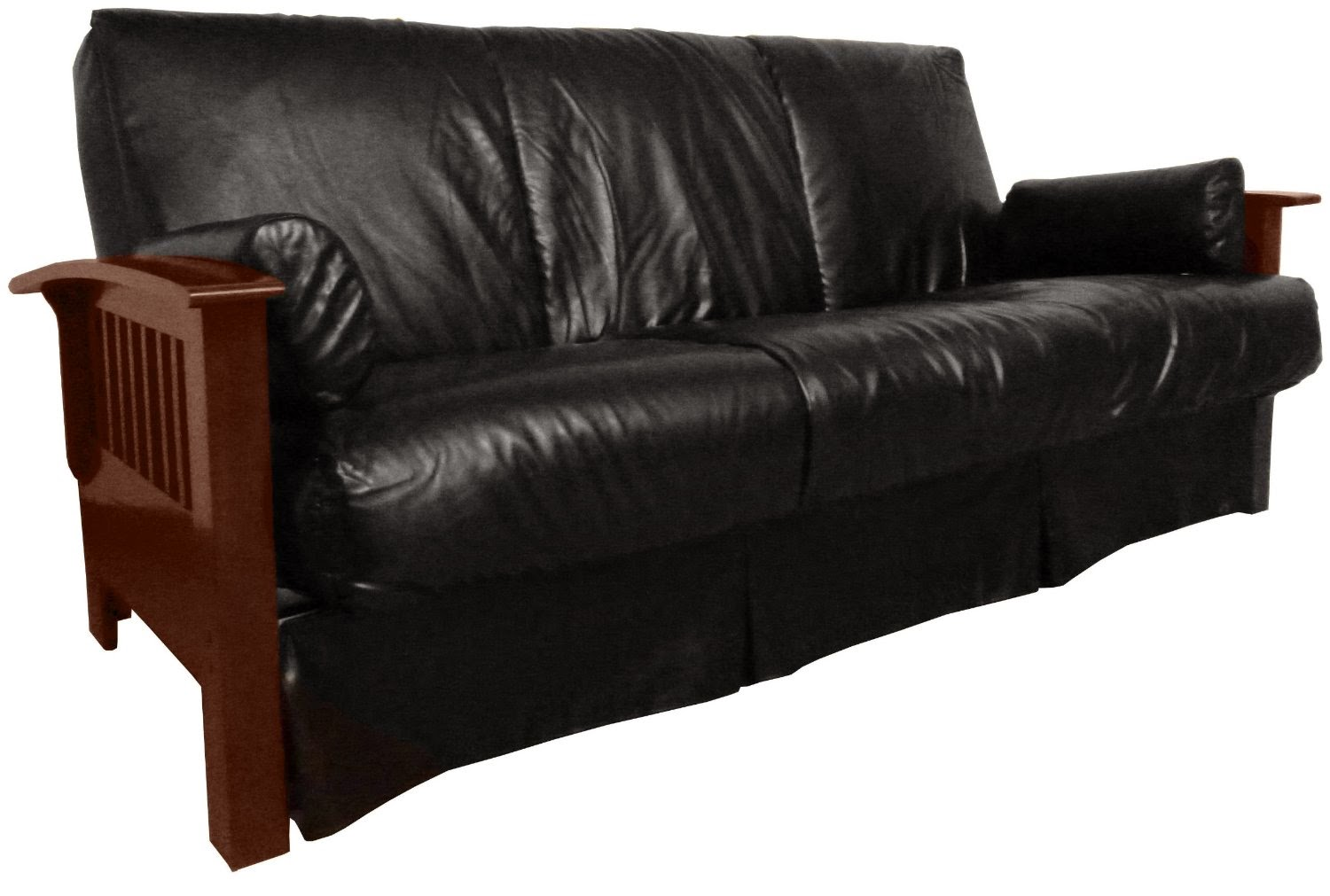Black Leather Sofa ~ Queen Size Leather Sofa Bed