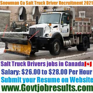 Snowman Ca Salt Truck Driver Recruitment 2021-22