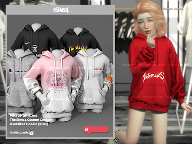 Oversized Hoodie (KIDS) for The Sims 4