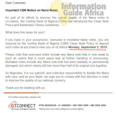 You Might Not Be Able To Spend Your Mutilated Naira Notes After 2nd Sept - CBN