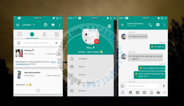 BBM Mod Thema Green Compare V2.13.0.26 New Version
