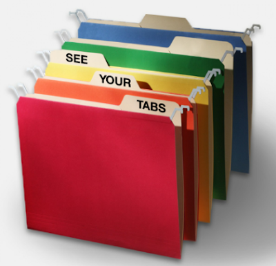 hanging file folders with lower top, so tabs on file folders inside them are visible