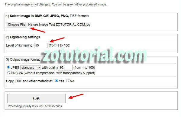 Mengubah Foto Gelap jadi Terang Otomatis Tanpa Aplikasi by zotutorial.com