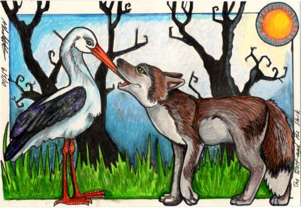 Terjemahan Cerita The Wolf and The Stork