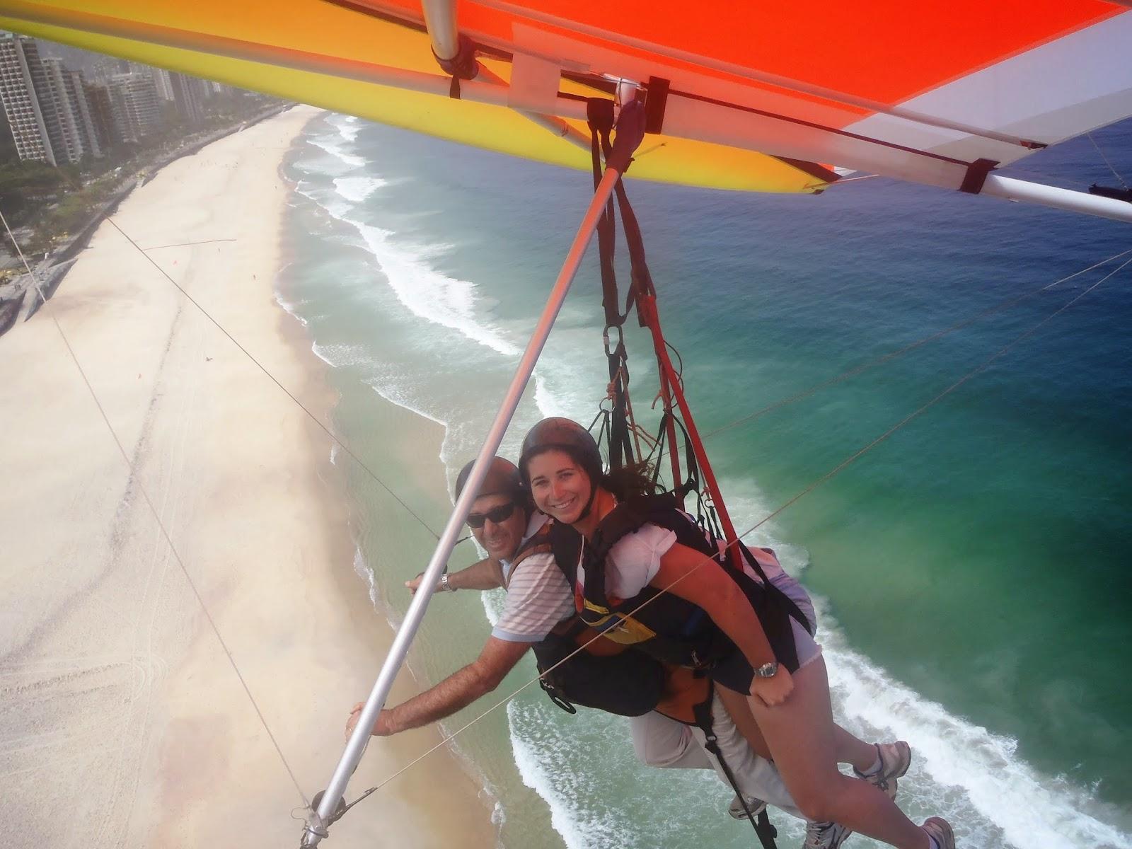 Hang Gliding over beaches in Rio de Janeiro