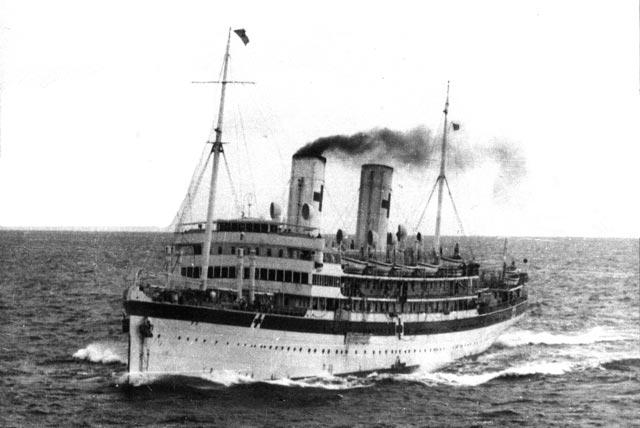 Hospital ship Po sunk during World War II worldwartwo.filminspector.com