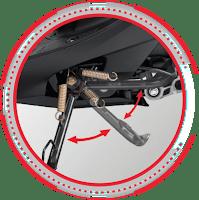 Standar Samping Otomatis HONDA SPACY FI CW Nagamas Motor Klaten