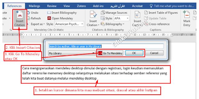 Buka MS Word kemudian silahkan buat tulisan atau kutipan dari buku atau artikel lalu klik