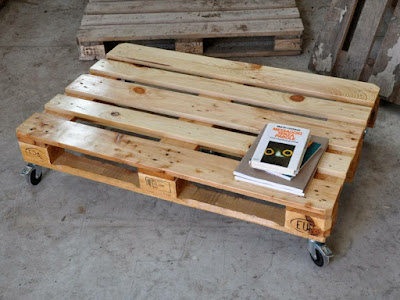 easy coffee table from original pallets