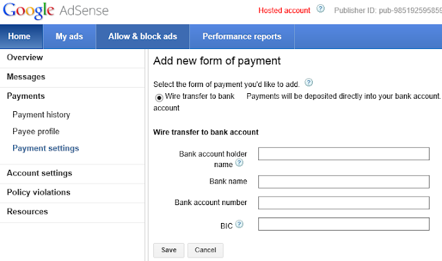 International Wire Transfer System through Bank Account